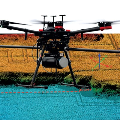 Motion and Navigation Sensors for UAV LiDAR - RTK and Post-processing